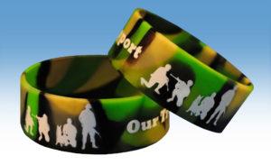 3 quater swirl printed Silicone Wristband www.instatechno.com