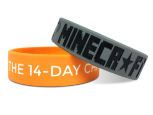 3 quater inch color filled Silicone Wristband www.instatechno.com